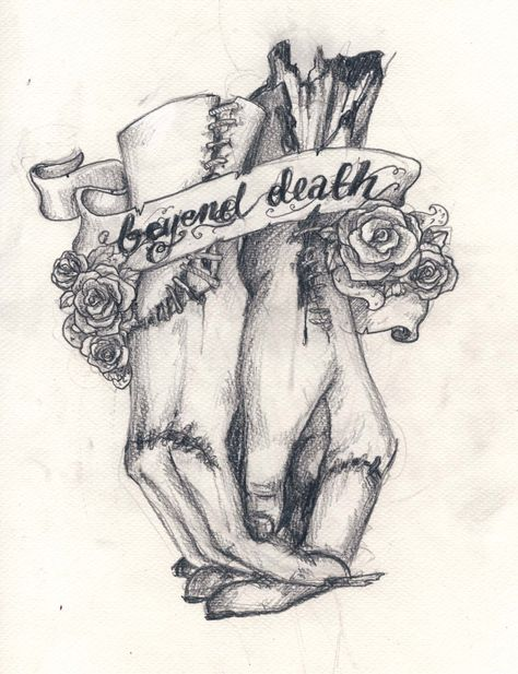 beyond death by koffinkandy on DeviantArt – Tattoo Sketches & Tattoo Drawings Art Drawings Sketches, Tattoo Drawings, Hase Tattoos, Aquarell Tattoo, Couple Tattoos, Future Tattoos, Body Art Tattoos, Dark Art Tattoo, Sleeve Tattoos