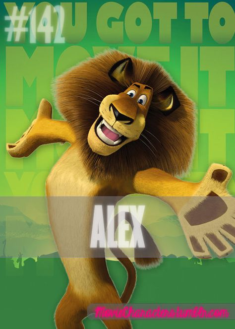 Alex Played By Ben Stiller Voice Film Madagascar Madagascar Escape 2 Africa Madagascar Movie Characters Madagascar Movie Kid Movies Disney