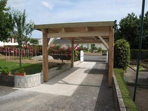Preau Toit Plat 300x500 Avec Images Construction Bois Preau Terrasse Exterieure