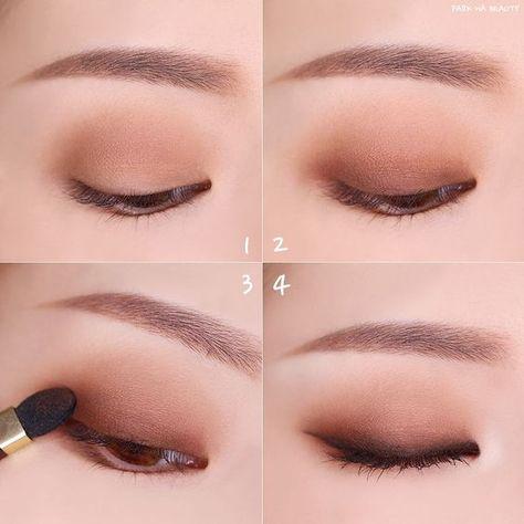 makeup tips ideas life hack nose contour eye makeup eyeshadow natural makeup brows Korean Makeup Look, Korean Makeup Tips, Asian Eye Makeup, Korean Makeup Tutorials, Asian Makeup Natural, Ulzzang Makeup Tutorial, Exotic Makeup, Eyeshadow Tutorials, Natural Beauty