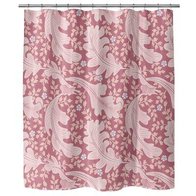 Ebern Designs Poway Single Shower Curtain Colour Mauve Rose Pink
