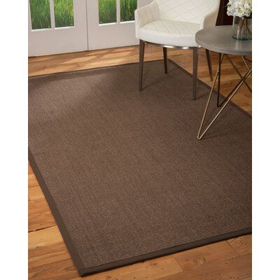 World Menagerie Jonson Hand Hooked Dark Brown Area Rug Rug Size