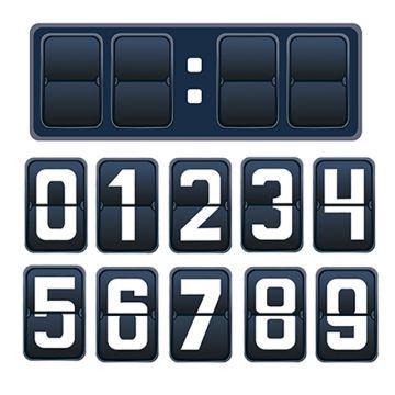 Countdown Mechanical Scoreboard