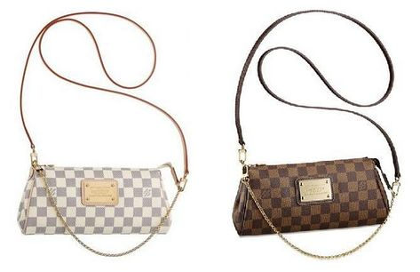 21e7edf06b9f9 I'm usually not that into Louis Vuitton, but I love this clutch/crossbody! LV  Eva Clutch in Damier Ebene or Damier Azur.