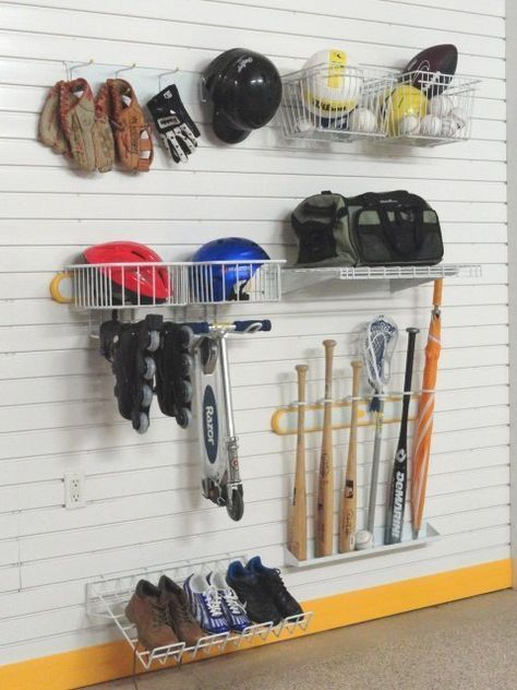Baseball Bat & Equipment Storage Rack - Large | Organize.com | DIY |  Pinterest | Baseball bats, Storage rack and Organizing