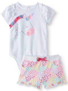 2PC Toddler Infant Baby Girl Short Sleeve T-shirt /&Pants Clothes Kids Sets 1-8Y
