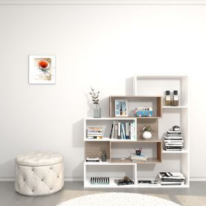 هوم مانيا ارفف كتب خشب متعدد الالوان Hompr 3037 تسوق الان بأفضل سعر في السعودية سوق كوم Bookcase Oak Shelves Bookcase Design