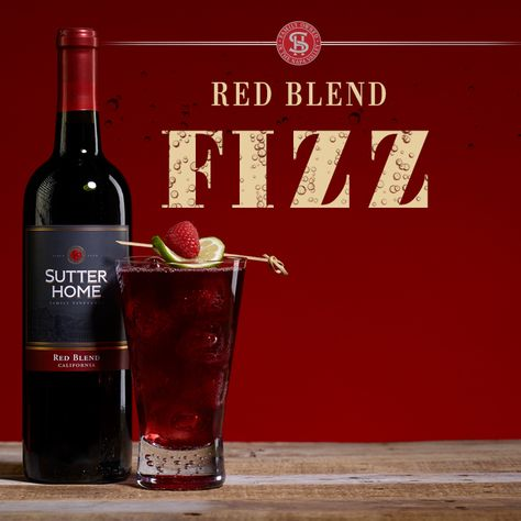 Perfect for February #MeTime and thoughts of Valentine's Day, try our Red Blend Fizz wine cocktail, made with Sutter Home Red Blend.