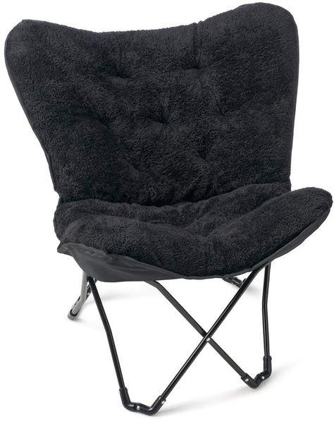 Simple By Design Sherpa Memory Foam Butterfly Chair My Room