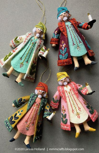 mmmcrafts: Mr. Scrooge pattern is now available! Felt Christmas Ornaments, Christmas Carol, All Things Christmas, Xmas, Christmas Projects, Holiday Crafts, Felt Embroidery, Clothespin Dolls, Penny Rugs