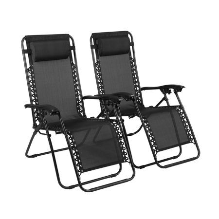 Zero Gravity Chairs Lounge Patio Outdoor Recliner Chairs By Naomi Home Color Black Quantity Set Of 2 Walmart Com Outdoor Recliner Lounge Chair Outdoor Outdoor Chairs