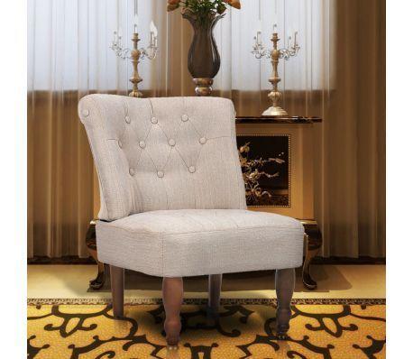 vidaXL French Chair Cream Fabric von vidaXL