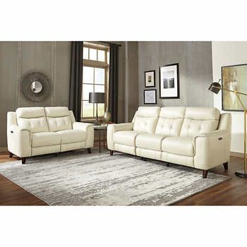 Top Grain Leather Reclining Sofa