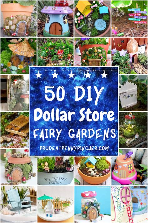 50 Dollar Store Fairy Garden Ideas