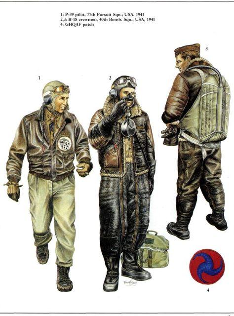 1. P-39 pilot, 77th Pursuit Squadron; USA, 1941