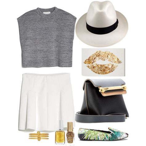 """""""A pop of gold today"""" by katheeroux on Polyvore"""