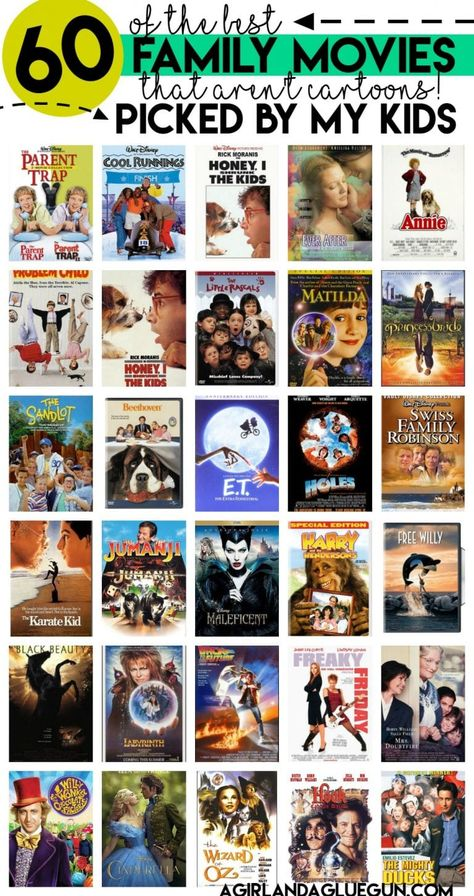 Movie in the yard with 60 of our favorite family movies! - A girl and a glue gun