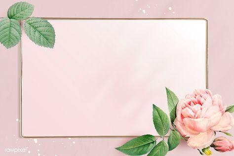 Floral rectangle golden frame vector | premium image by rawpixel.com / Adj
