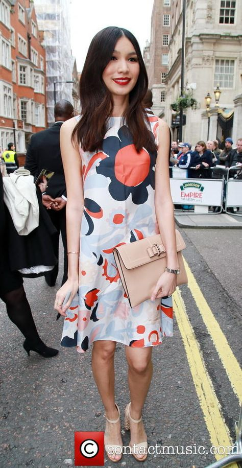 Gemma Chan in Mulberry