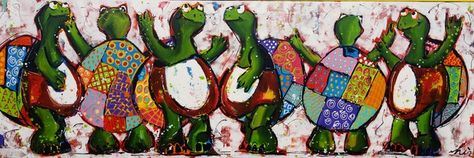 Schildpad schilderijen Liz