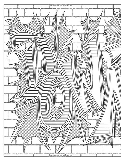 Graffiti Art Coloring Book Dover Coloring Books Jeremy Elder
