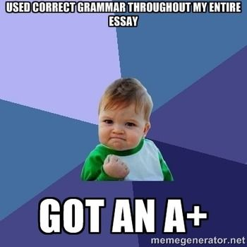 English Grammar Memes Printables And Classroom Decor Grammar Memes Success Kid Brownie Points