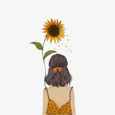 Resultado De Imagen Para Girasoles Tumblr Sunflower Drawing Art