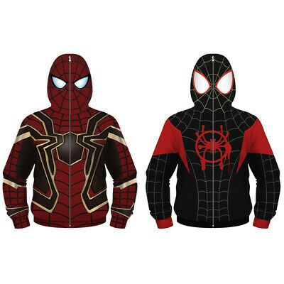 2019 Venom SpiderMan Deadpool Hoodie 3D Sweatshirt Coat Superhero Jacket Costume