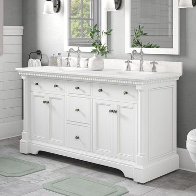 Charlton Home Perrytown 60 Double Bathroom Vanity Set Double