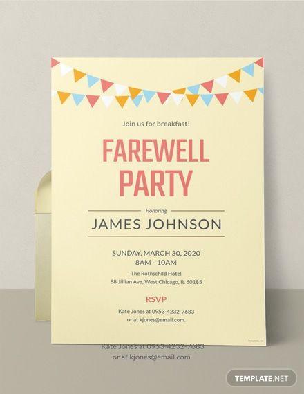Free Farewell Invitation Template In Microsoft Word Doc Template Net Party Invite Template Farewell Party Invitations Going Away Party Invitations