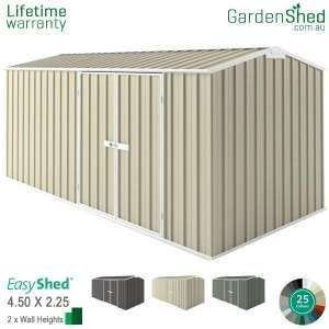 Easyshed Workshop4 5m X 2 26mgable Triangle Simple Shed Aluminium Cladding