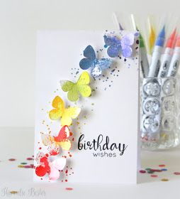 Desert Diva Butterfly Rainbow Watercolor Birthday Cards