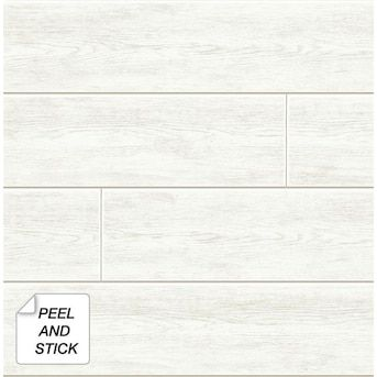 Nextwall 30 75 Sq Ft Off White Shiplap Self Adhesive Peel And Stick Wallpaper Lowes Com In 2020 Peel And Stick Wallpaper White Shiplap Shiplap