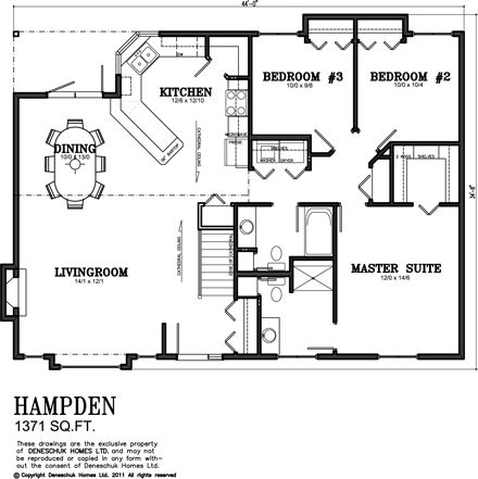 Deneschuk Homes 1300 1400 Sq Ft Home Plans Rtm And Onsite House Plans Tiny House Plans Murphy Bed Plans Open concept house plans canada