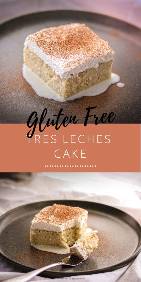 This is a classic - and you'll absolutely melt into the couch after taking the first bite of this dreamily creamy gluten free tres leches cake, soaked in cream, condensed milk, evaporated milk, and more cream. Do yourself a favor and make it this weekend! Gluten Free Deserts, Gluten Free Sweets, Gluten Free Cakes, Gluten Free Baking, Gluten Free Menu, Mexican Dessert Easy, Indian Dessert Recipes, Arabic Dessert, Arabic Sweets