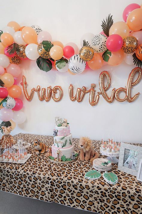 Best Garden Decorations Tips and Tricks You Need to Know - Modern 2nd Birthday Party For Girl, Jungle Theme Birthday, Second Birthday Ideas, Girl Birthday Themes, Animal Birthday, Summer Birthday, Cheetah Birthday, Party Summer, Themes For Birthday Parties