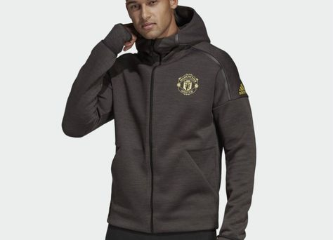 Adidas Manchester United Chinese New Year Adidas Z N E Hoodie Black Carbon Mufc Manchesterunited Athletic Jacket Winter Jackets Canada Goose Jackets