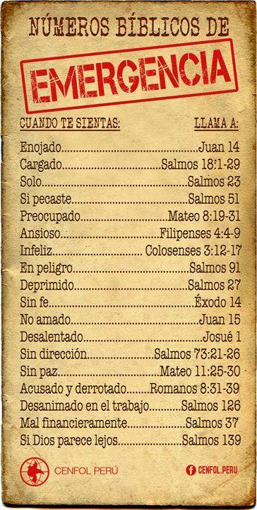 En caso de urgencia, ver la Biblia. #FrasesDeLaBiblia #Dios #Oracion #Oraciones #oracionescristianas