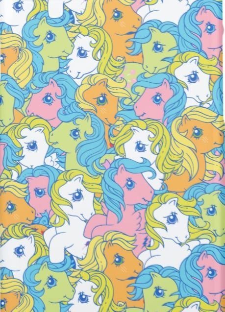 Classic G1 My Little Pony Pastel Color Pattern Design On A Phone