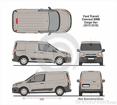 Ford Transit Connect Swb Cargo Van Rear Symmetrical Doors 2013