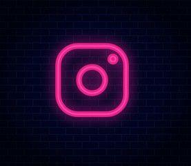 Instagram Logo Neon Vector Editorial Affiliate Logo Instagram Neon Editorial Vector Ad Instagram Logo Neon Logo Neon Signs