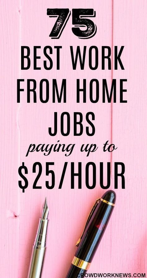 75 Best Work From Home Jobs Hiring Now Paying Up To 25 Hr In 2020 In 2020 Work From Home Jobs Home Jobs Legitimate Work From Home