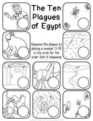 The Ten Plagues Of Egypt Worksheet Pack Bible Crafts Sunday School Activities Sunday School Kids