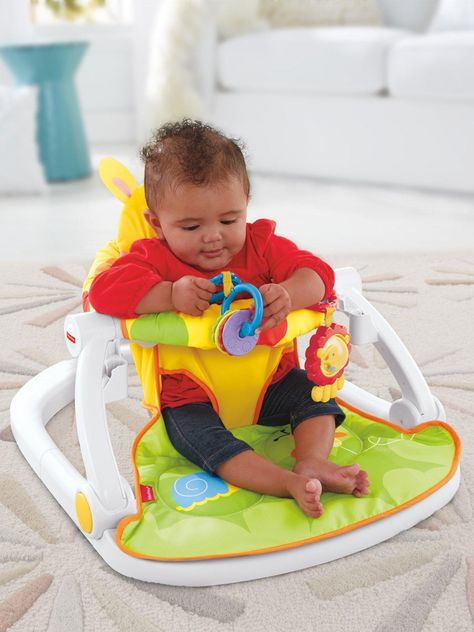 Fisher Price Giraffe Sit Me Up Floor Seat With Tray One Colour