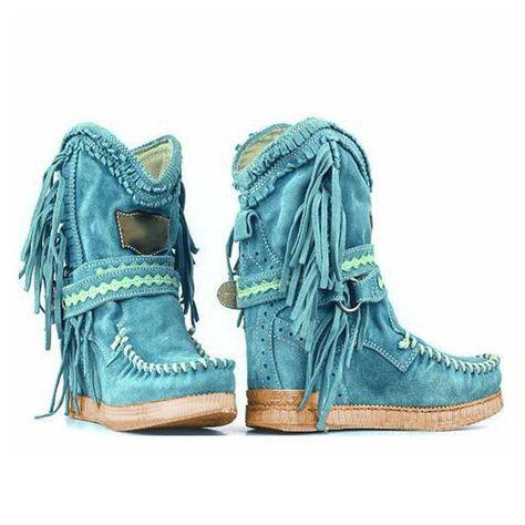 Light Purple Tassel Faux Suede Winter Boots | Boots, Winter