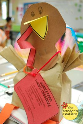 Turkey Bags with a COLORFUL twist!! (freebie!)