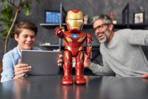 A L'occasion de la sortie en salle aujourd'hui d'Avengers : Endgame, UBTECH et Marvel unissent leurs forces pour vous offrir les super-pouvoirs d'Iron Man.   Doté d'un système de réalité augmentée, ce robot IronMan, capable de marcher et de parler, donne vie à TonyStark ... #High-Tech #IronMan, #Marvel, #UBTECHRobotics