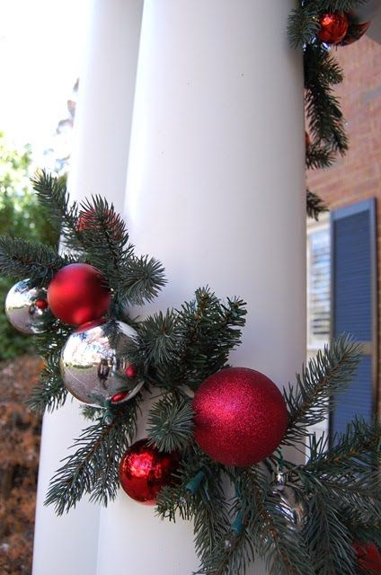 Ornament covered garland tutorial.