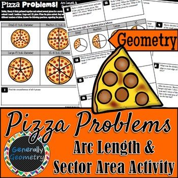 Sector Area Arc Length Pizza Problems Geometry Circles With