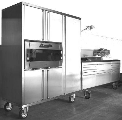 Küchenmodule Bulthaup System 20 - Edelstahl Gaggenau Miele